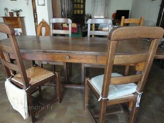 Table de ferme et ses 4 chaises