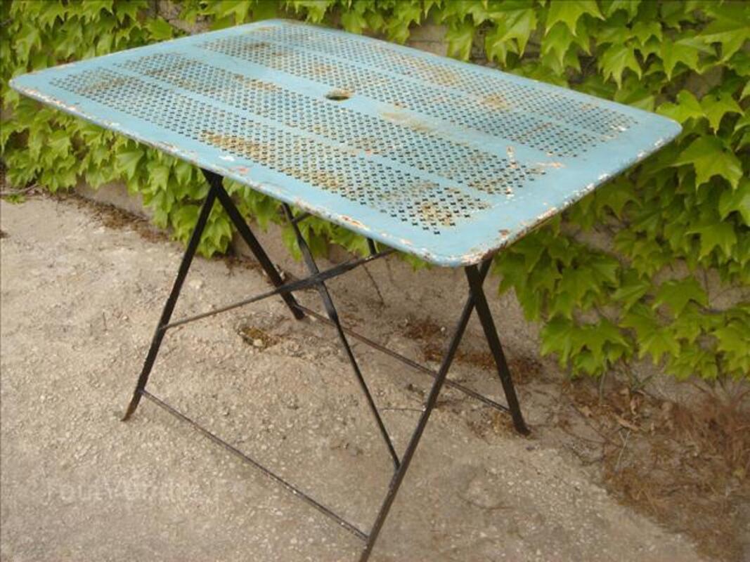 Table de jardin pliante en métal / style mategot 86874200