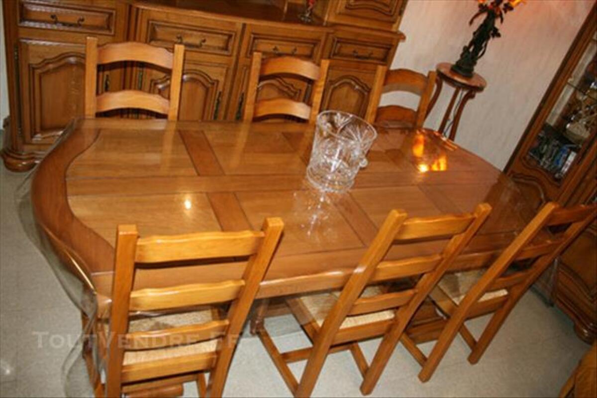 Table de salle a manger + 6 chaises 100% chene massif 86267642