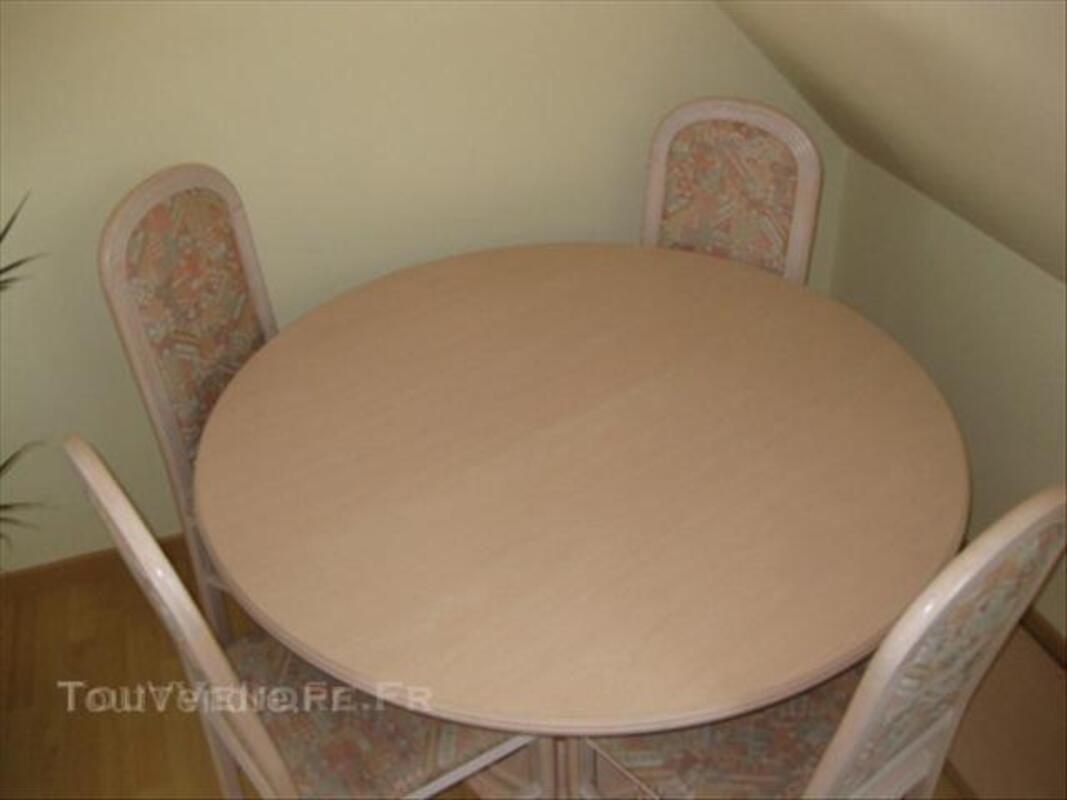Table de salle à manger, sa rallonge et ses 4 chaises 45553652