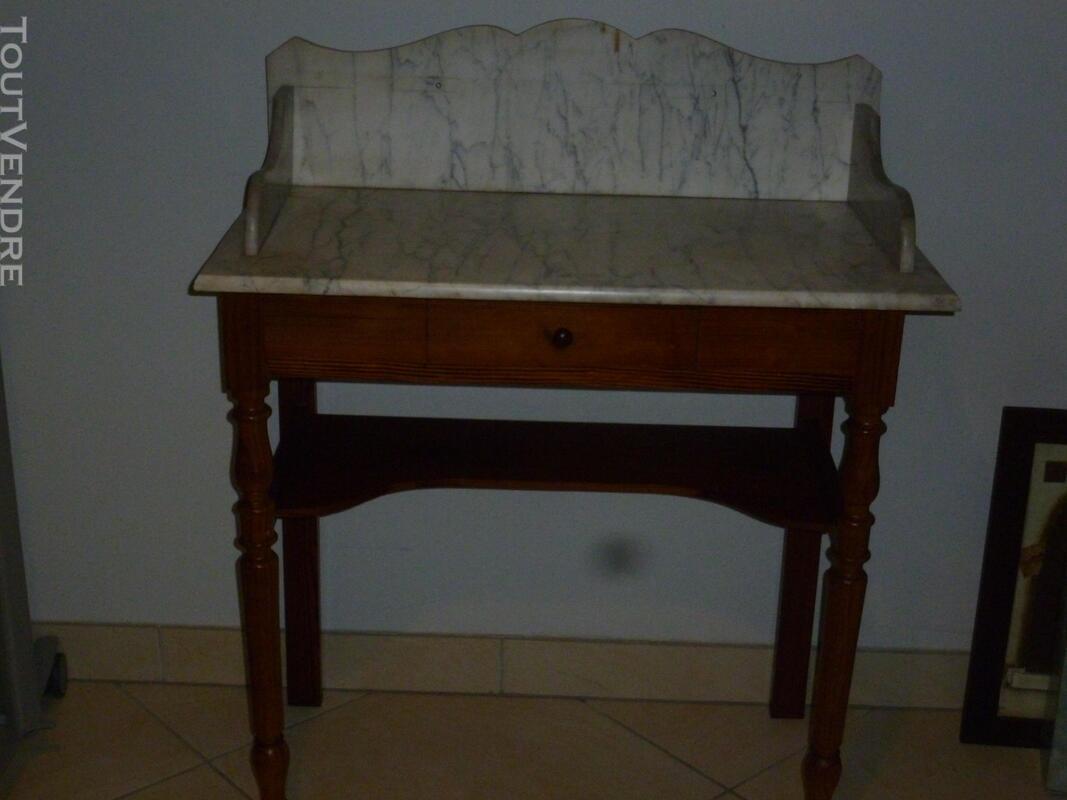 Table de toilette ancienne dessus marbre 501067712