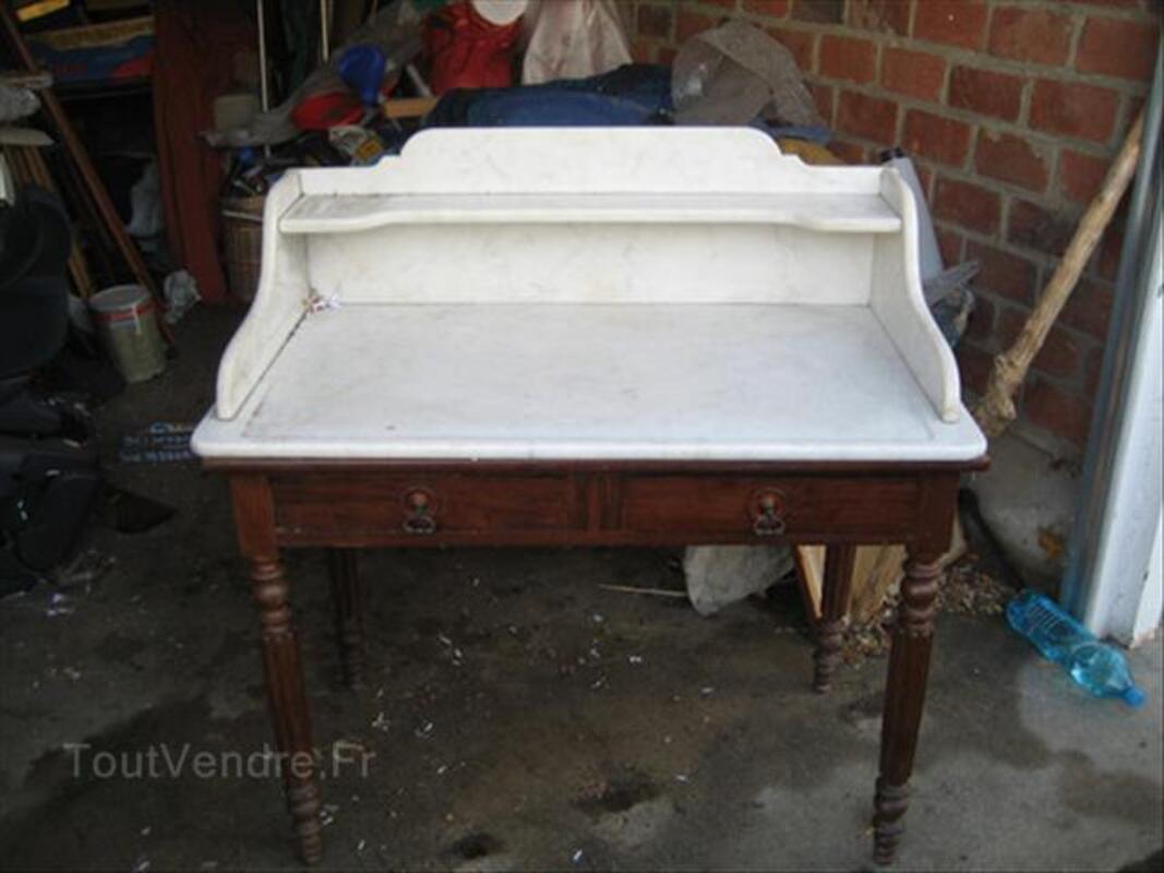 Table de toilette ancienne dessus marbre 55809266