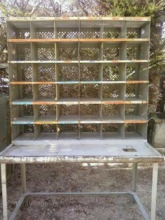Table de tri postal metal casier d usine annee 60 91881729