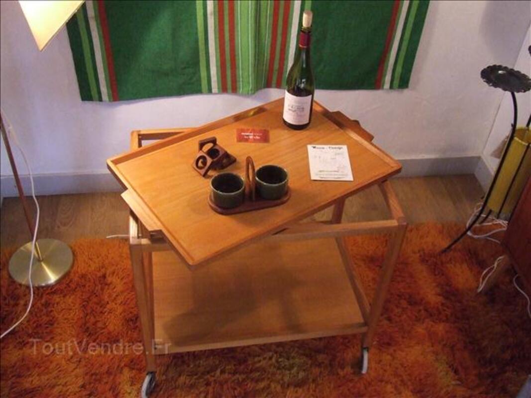 Table desserte à roulette 1950 44829919