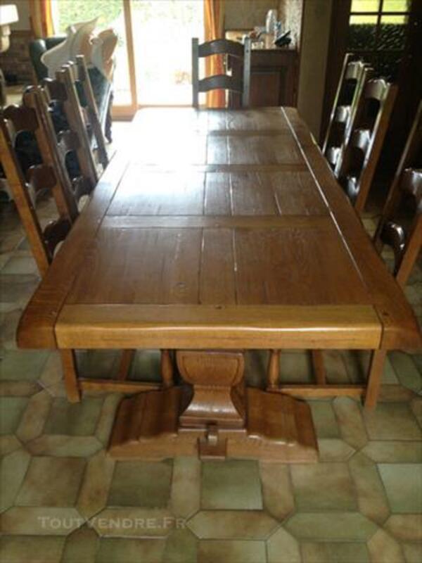 Table en chêne et 8 chaises monastère 84040561
