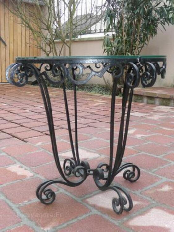 TABLE FER FORGE ART DECO 92585076