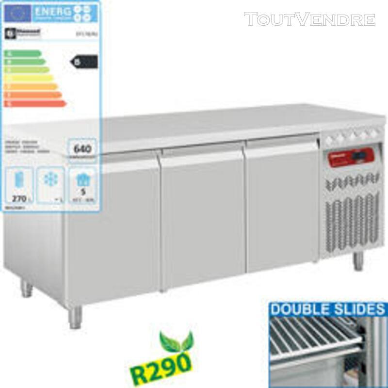 Table frigorifique ventilée, 3 portes GN 1/1, 405 Lit. 607039871