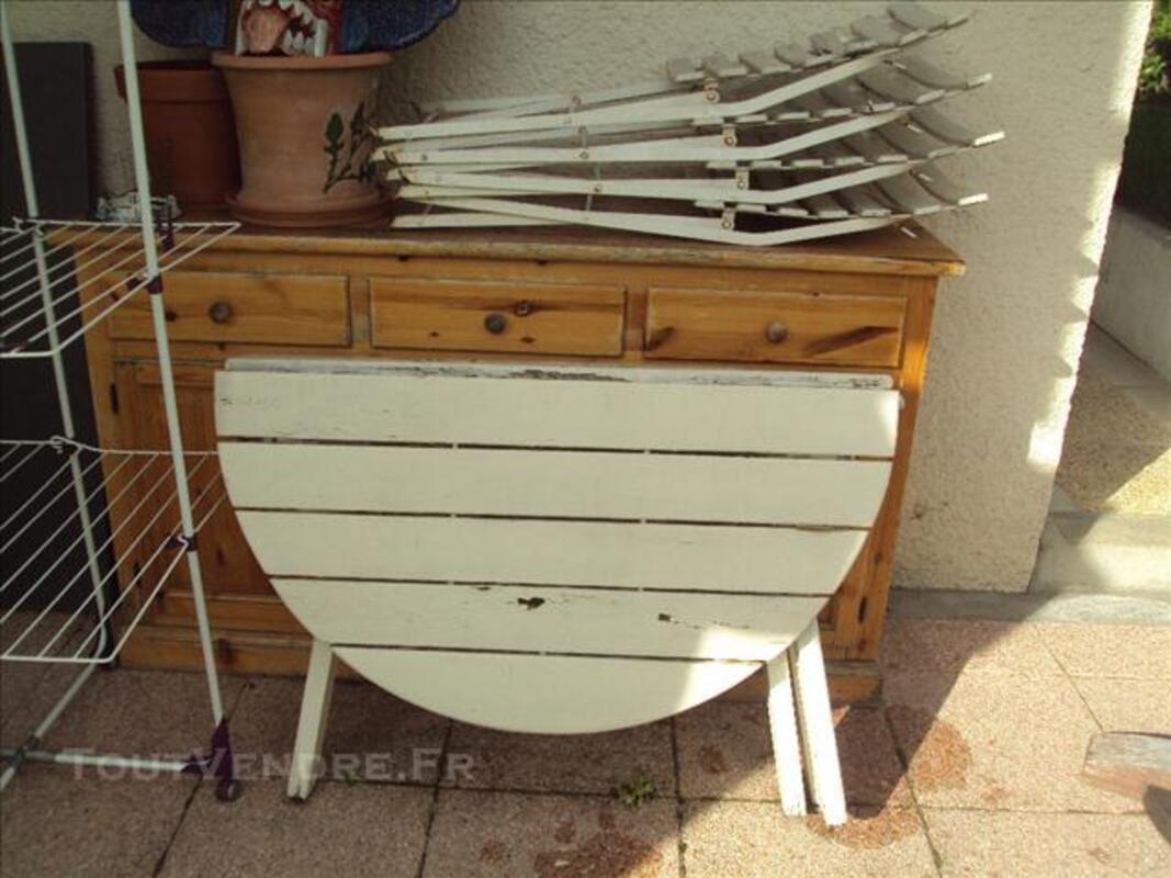 Table jardin pliable en bois + 4 chaises pliable en boi 76123620