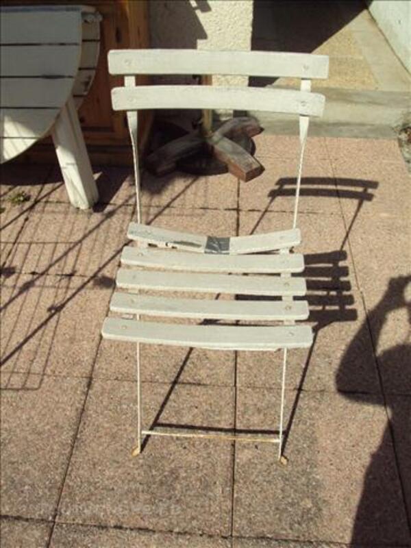 Table jardin pliable en bois + 4 chaises pliable en boi 76123621