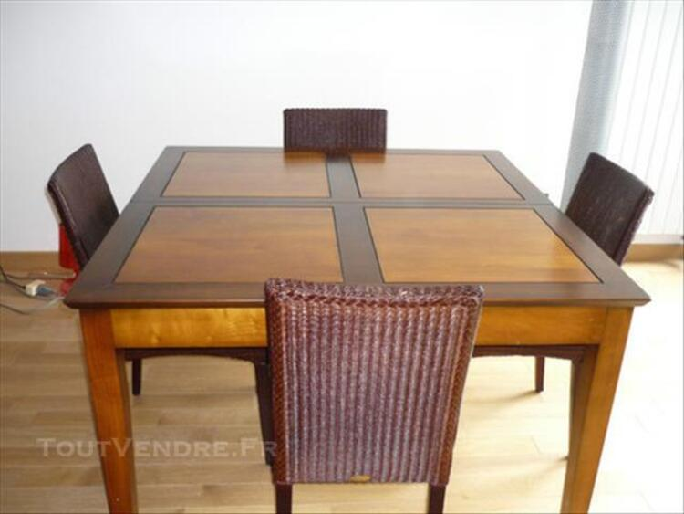 """TABLE """"LES COLONIALES"""" & 4 CHAISES """"LOOM"""" 85705179"""