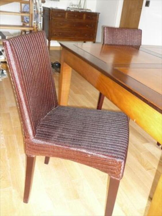 """TABLE """"LES COLONIALES"""" & 4 CHAISES """"LOOM"""" 85705181"""
