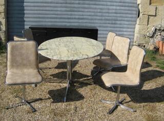 Table marbre 6 chaises design knoll année 70
