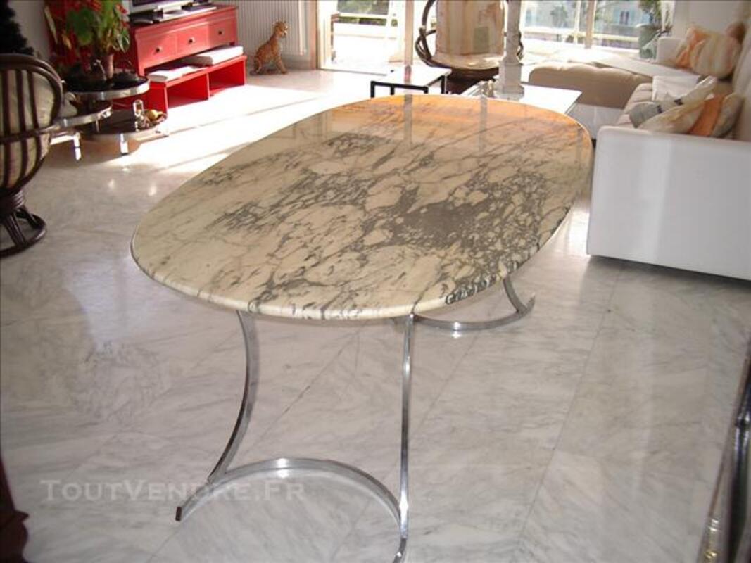 Table marbre vintage années 70 74037933