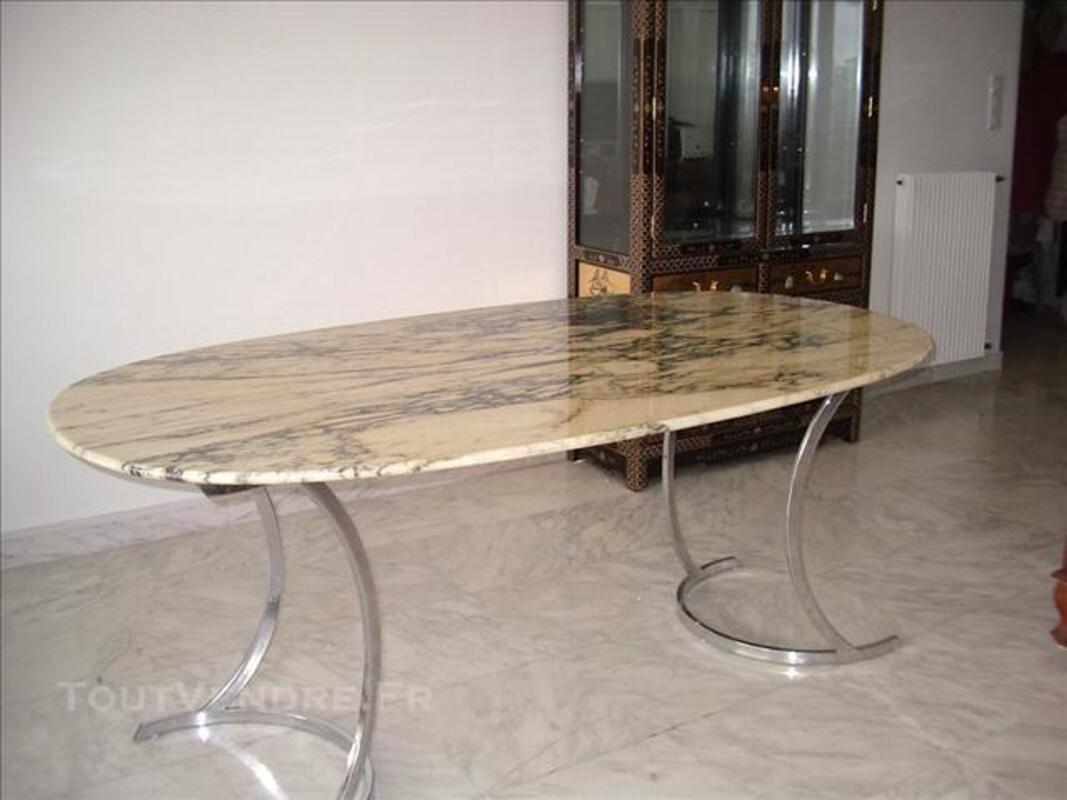 Table marbre vintage années 70 74037934