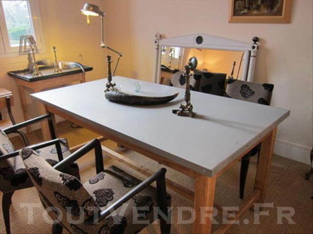 TABLE METAL ZINC ET CHENE 85428041