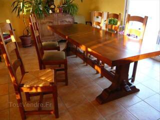 TABLE MONASTERE + 6 CHAISES