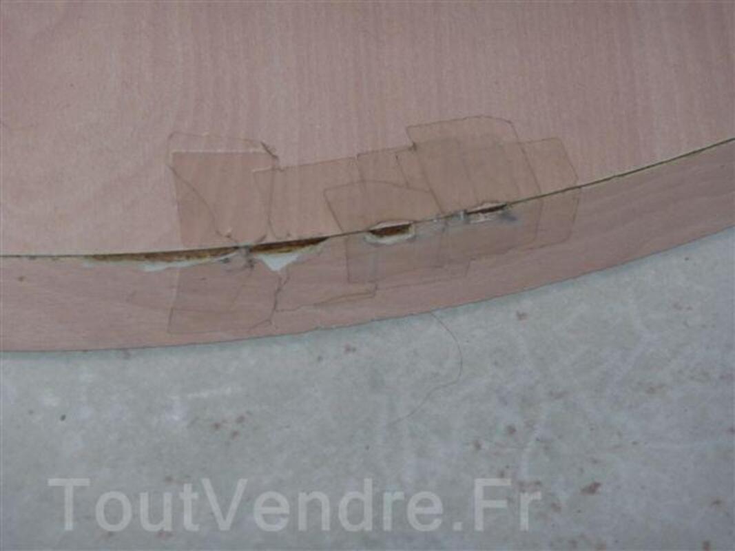 Table salle à manger ronde cérusé rose 92713763
