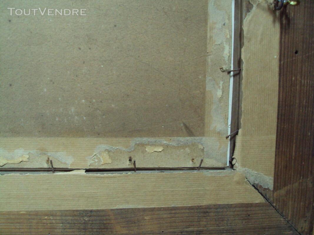 Tableau cadre rivière gelée personnages ancien 147409938