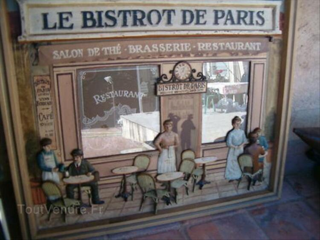 Tableau en relief bois    LE BISTROT DE PARIS 64513860