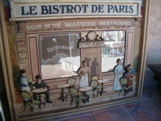Tableau en relief bois    LE BISTROT DE PARIS