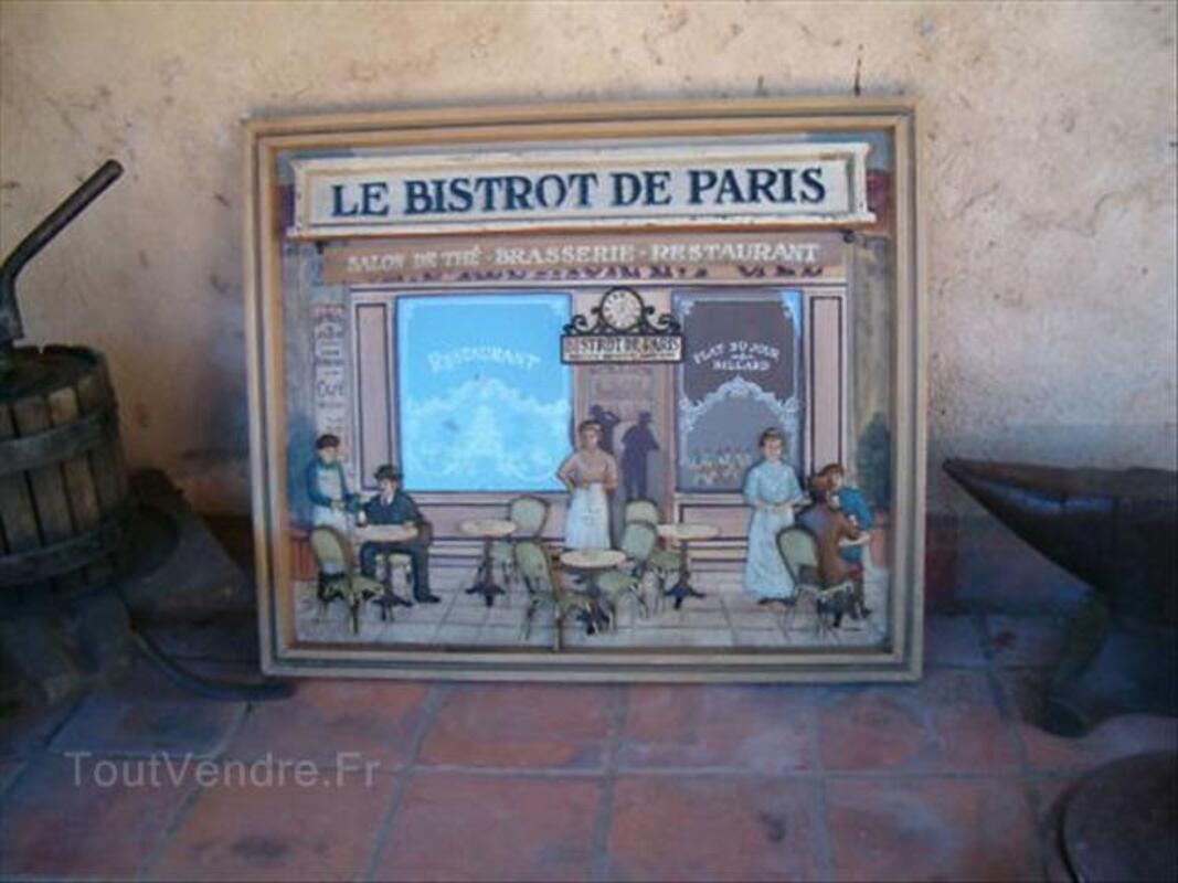 Tableau en relief bois    LE BISTROT DE PARIS 64513861