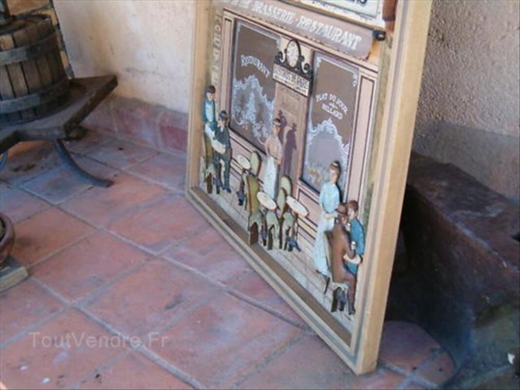 Tableau en relief bois    LE BISTROT DE PARIS 64513862