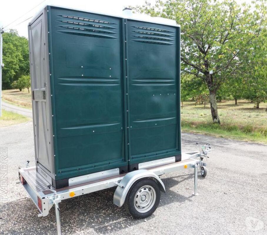 Tandem Mobileklyn , remorque toilette solo ou double 689819167