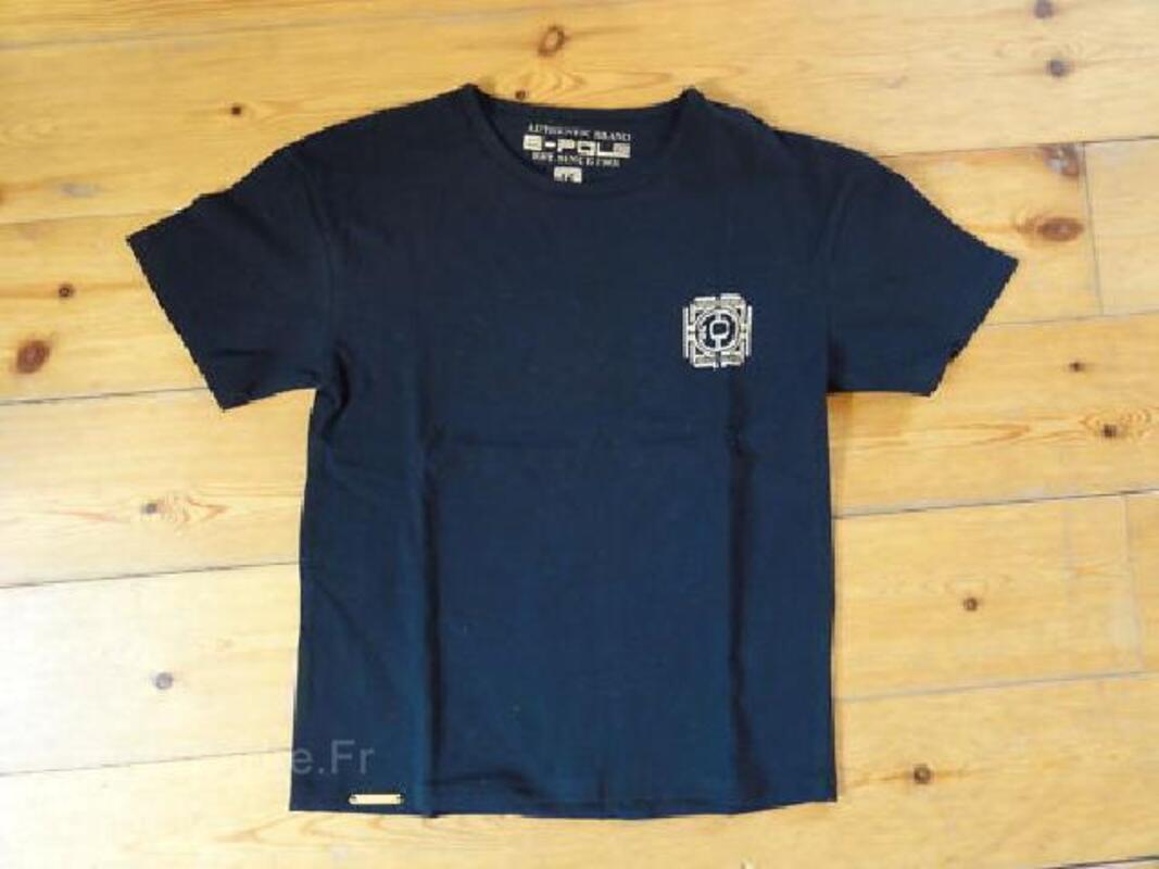 Tee shirt E pole neuf 13 ans marine + or hyper mode 102805919