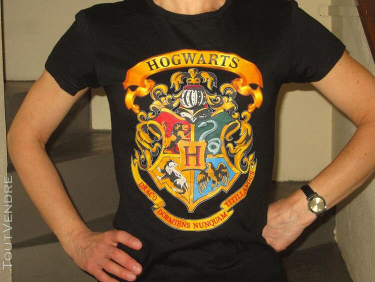 Tee shirt HARRY POTTER HOGWARTS taille S 291981298