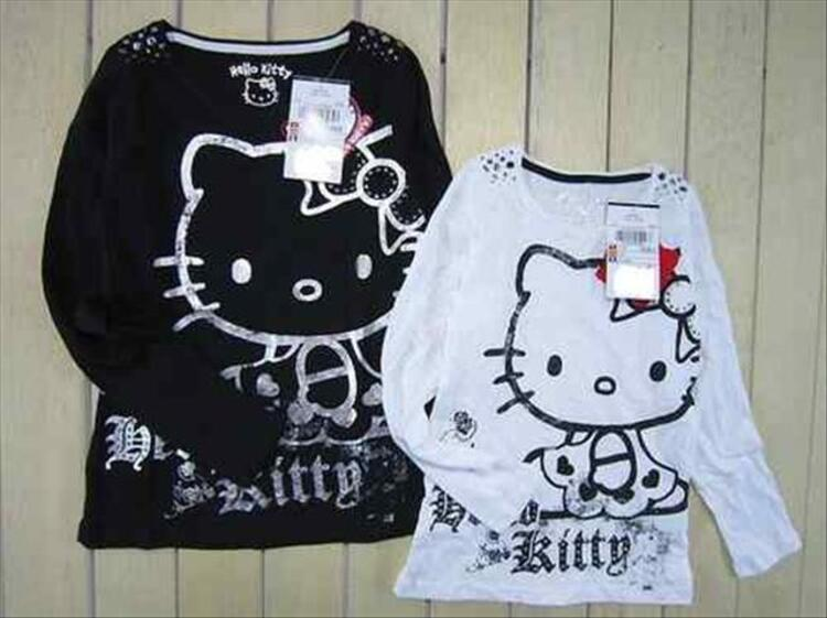 TEE-SHIRT HELLO KITTY à manches longues, adorable! 54508032