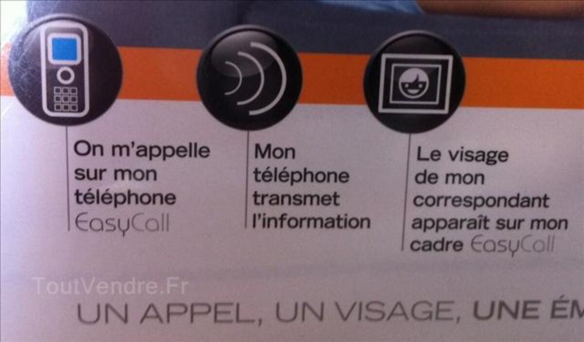 Telephone sans fils avec cadre photo numérique NEUF 44027128