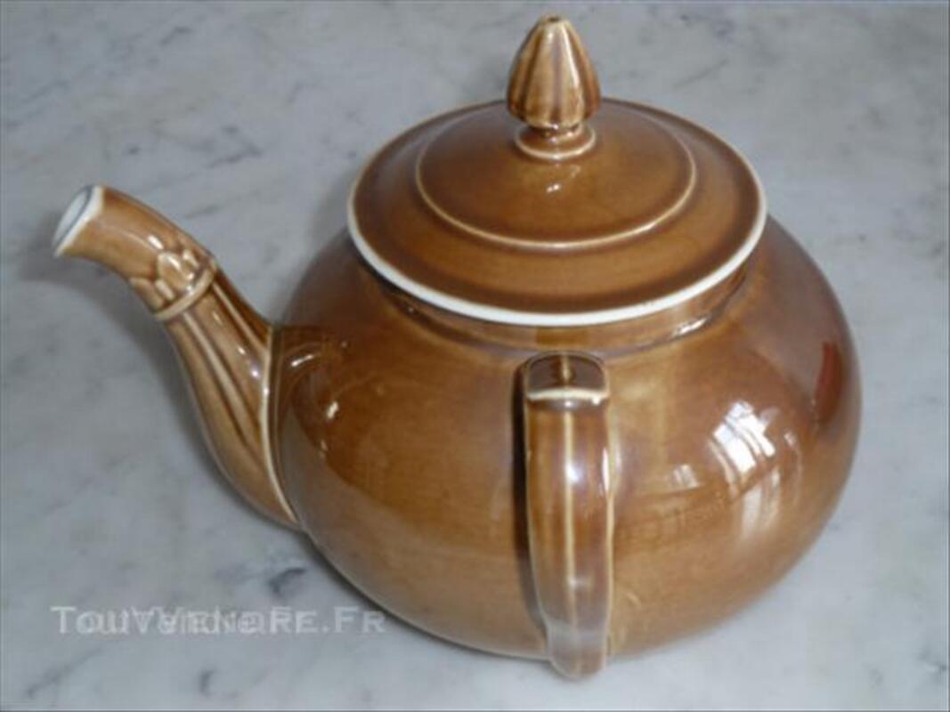 Théière ancienne porcelaine à feu 44686250