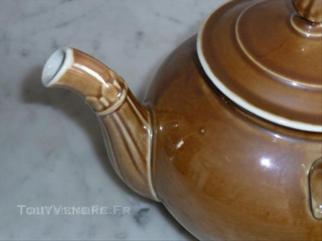 Théière ancienne porcelaine à feu 44686251