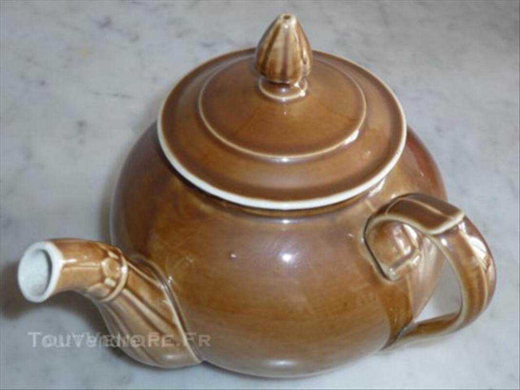 Théière ancienne porcelaine à feu 44686252