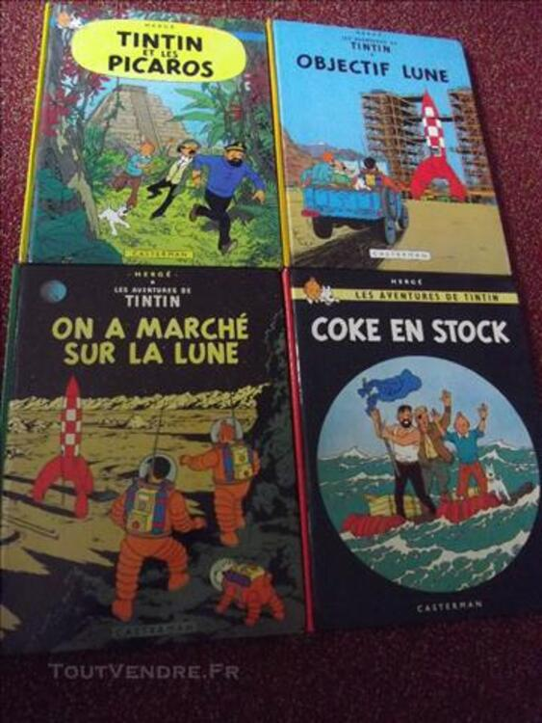 Tintin BD ,11 BD;cote année 1979 à  1984 84090850