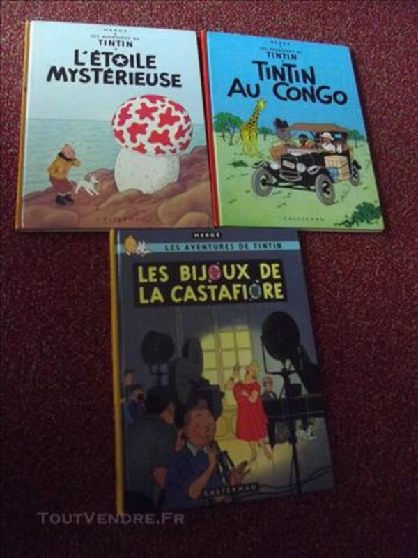 Tintin BD ,11 BD;cote année 1979 à  1984 84090852