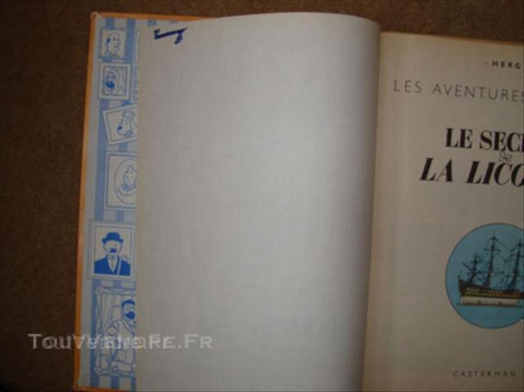 Tintin Le secret de la Licorne Edition B36 1966 45563406