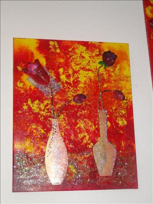Toile bouquets de tulipes 40 cm x 50 cm 47228398