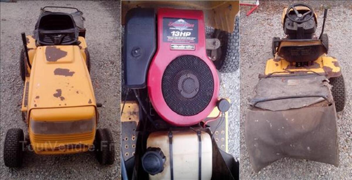 Tracteur tondeuse autoporte granja 12.5cv 80cm + bac 96653794