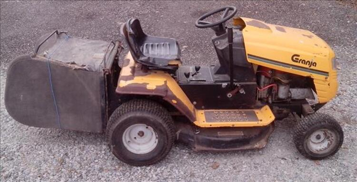 Tracteur tondeuse autoporte granja 12.5cv 80cm + bac 96653819
