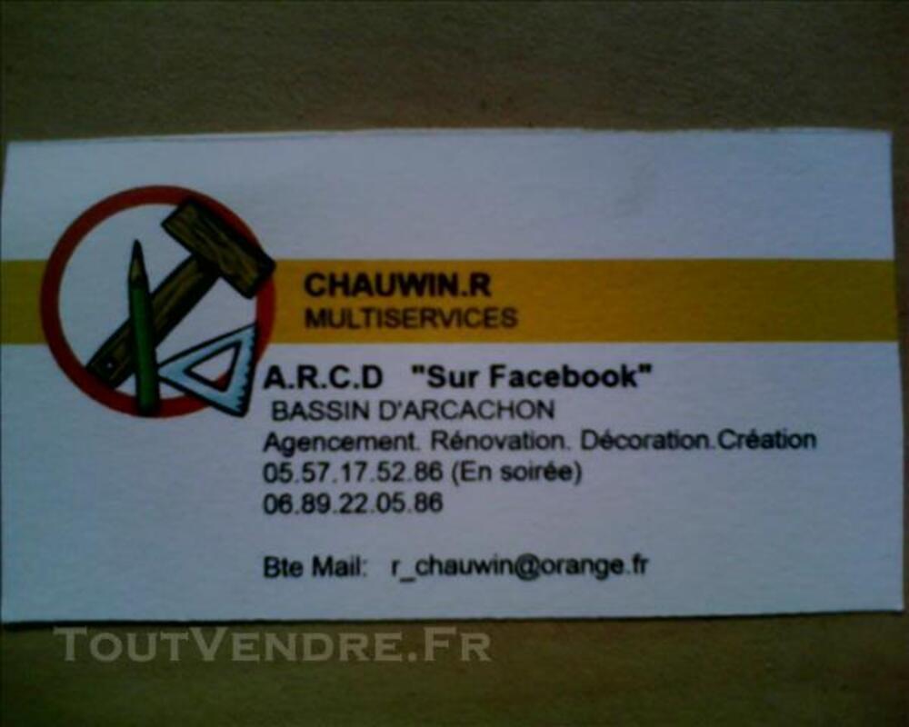 TRAVAUX EN RÉNOVATION  ( BASSIN  D 'ARCACHON ) 82118244