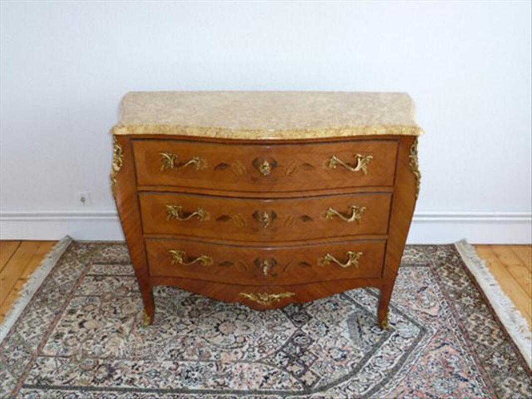 Très belle Commode Style Louis XV - Signée MARQUANT P. 76602926