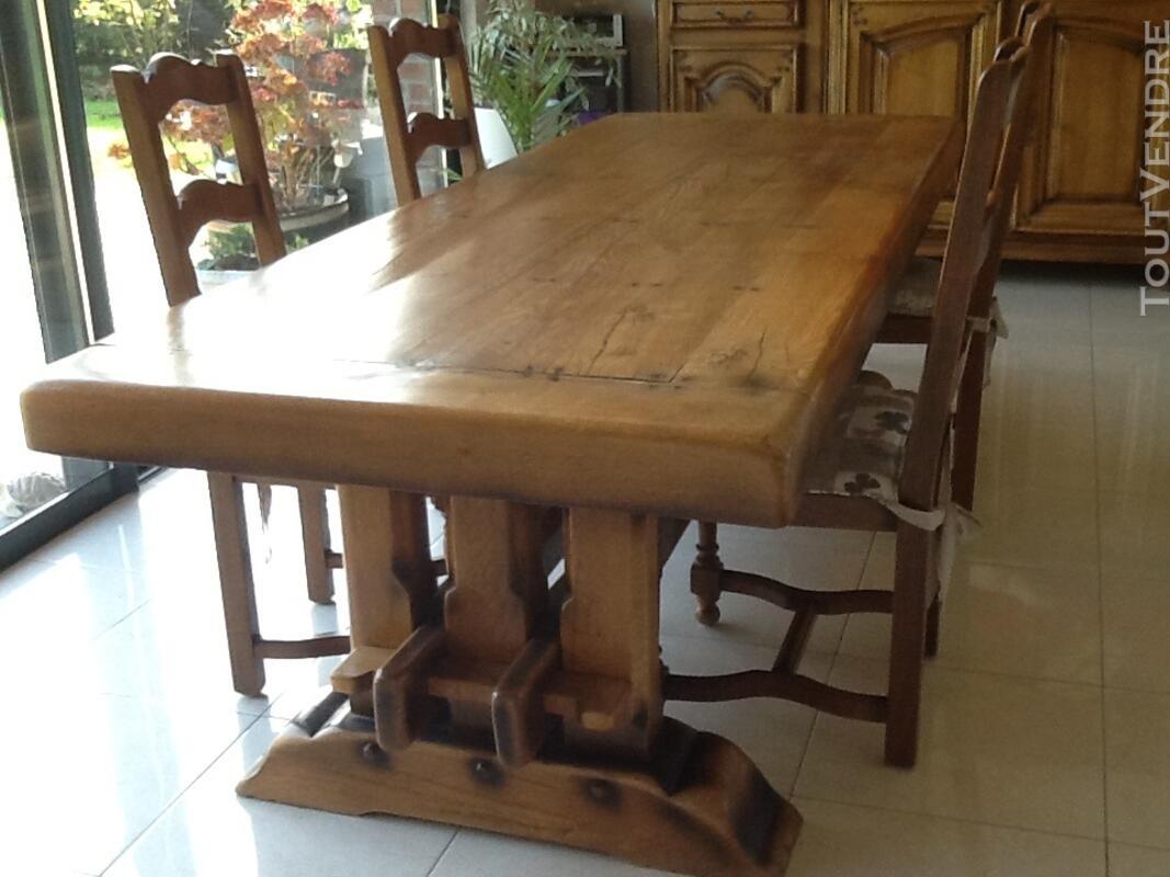 Très belle salle à manger en chêne massif de style Louis XIV 132374030