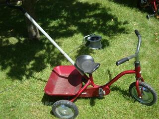 Tricycle Jockey rouge metal