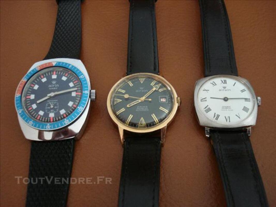Trois montres AIRAIN TBE 75712363