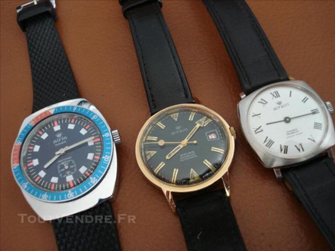 Trois montres AIRAIN TBE 75712364