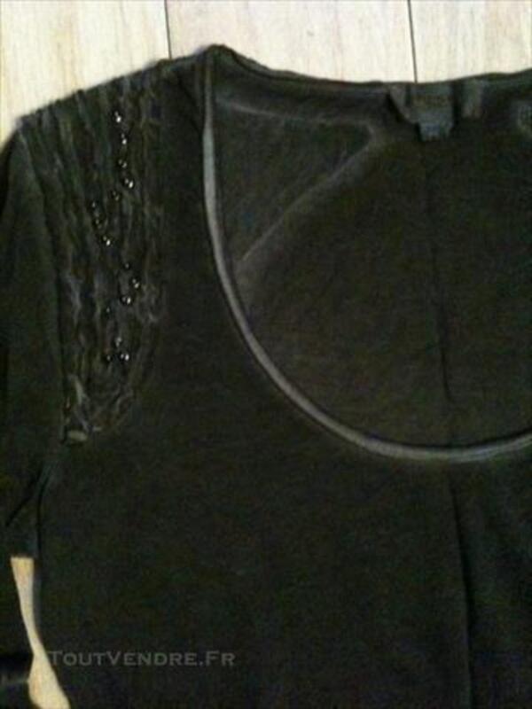 Tshirt manches longues DIESEL Neuf gris noir delavé 83120434