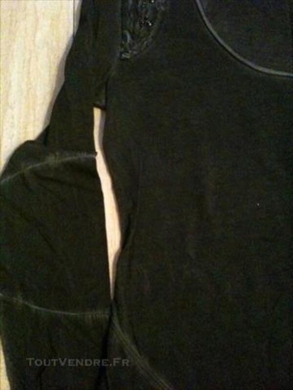 Tshirt manches longues DIESEL Neuf gris noir delavé 83120435