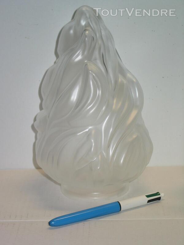Tulipe flamme empire pate de verre pressée lampe lustre lumi 611023609