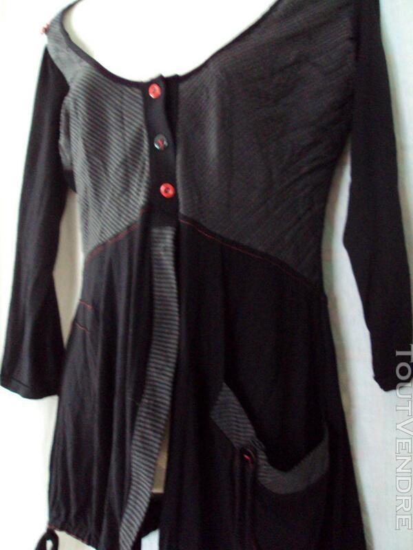 Tunique noire et rouge CACHE CACHE 40 245190922